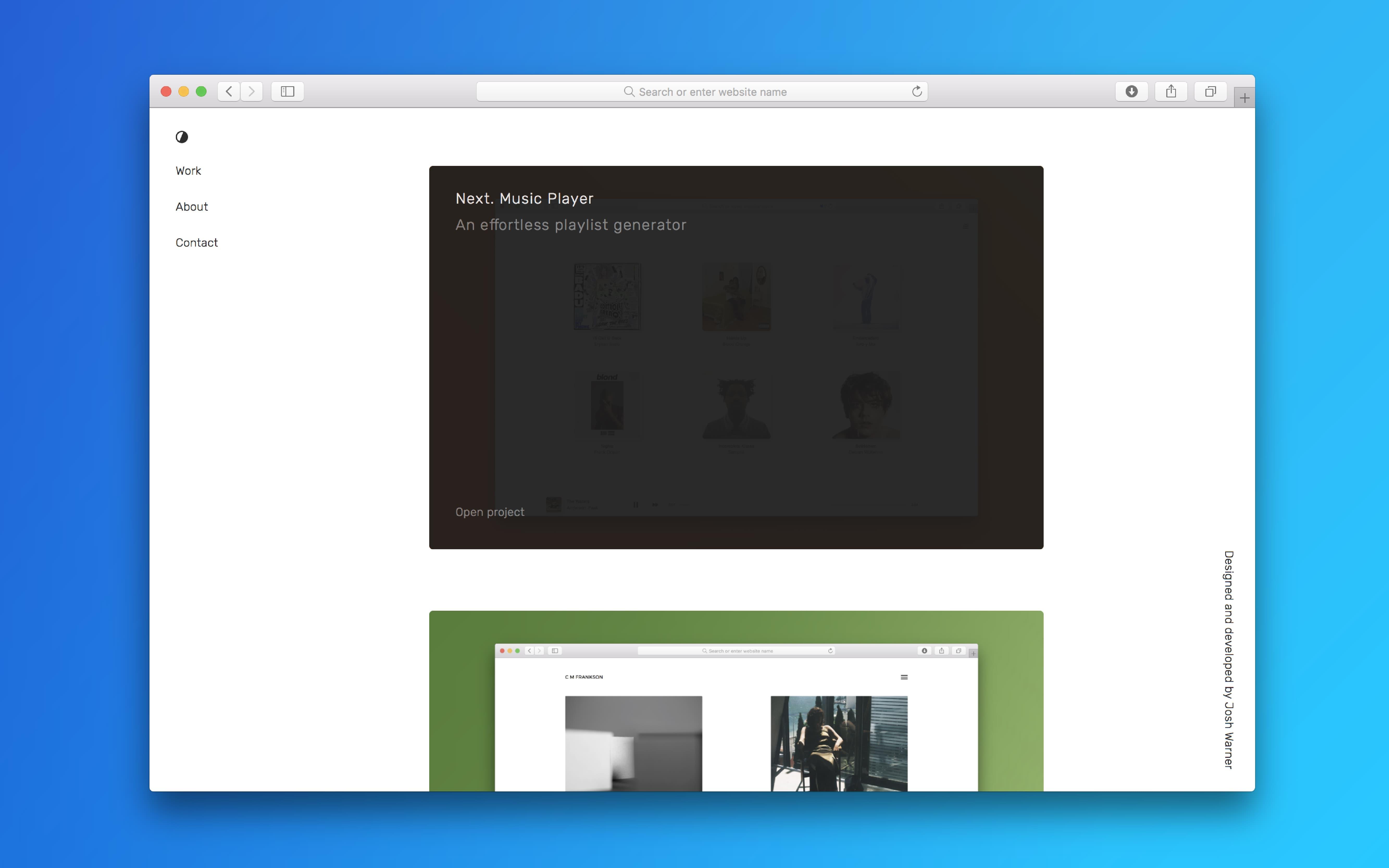 Josh Warner   Web design & development